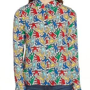 Alice + Olivia x Keith Haring Eloise Blouse Small